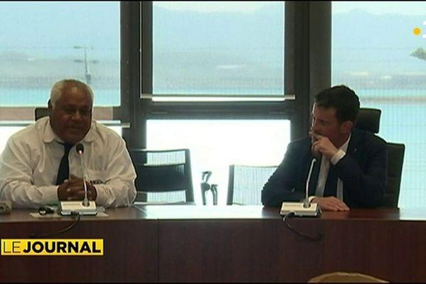 Manuel Valls à la tête d'une mission parlementaire en Calédonie