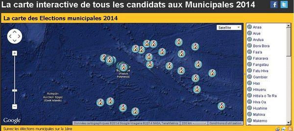 carte élections PF