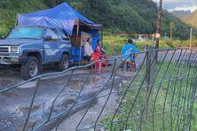 Le passage pour entrer dans la vallée de Mapua Ura est bloqué, ce qui empêche de une entreprise d'extraction de poursuivre son activité.