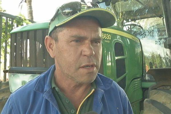 Dominique Gigan, président de la FDSEA à La Réunion.