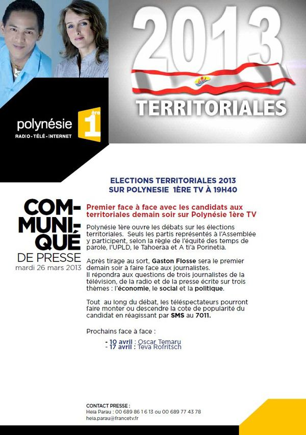 Emission speciale elections territoriales