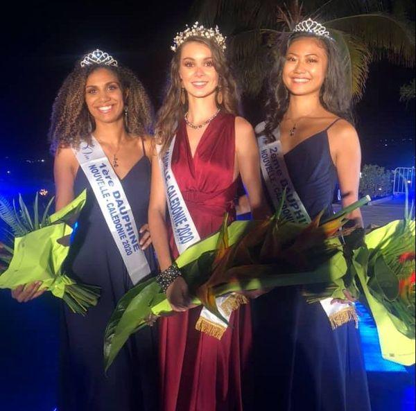 Miss Nouvelle-Calédonie 2020 et ses dauphines