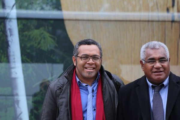 Emmanuel Tjibaou et Wallès Kotra