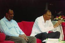Albert Elatré et Jacques Bangou, ancien et actuel présidents du PPDG