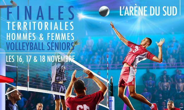 Affiche finales NC de volley 2018