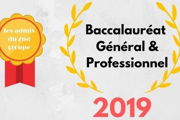Bac 2019 : les admis du second groupe au BAC général et technologique
