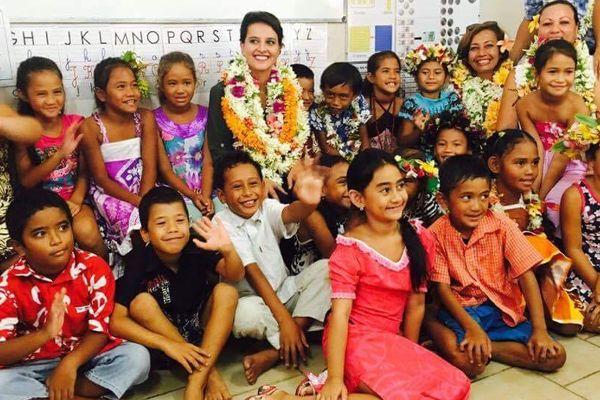 Najat Vallaud-Belkacem en Polynésie