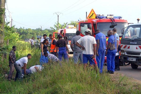 Accident RD11 à Saint-Laurent