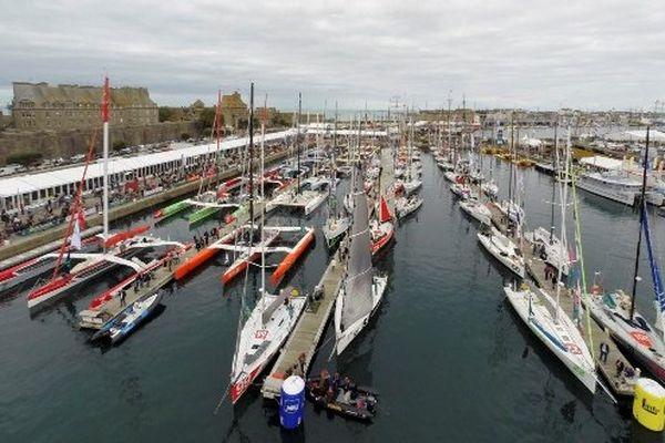 Route du Rhum - les bateaux au Port de Saint-Malo
