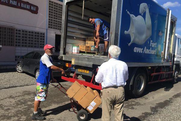 Rotary Club : distribution denrée alimentaire aux sinistrés