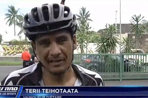Terii Teihotaata, vainqueur du 1er round de la coupe de Tahiti
