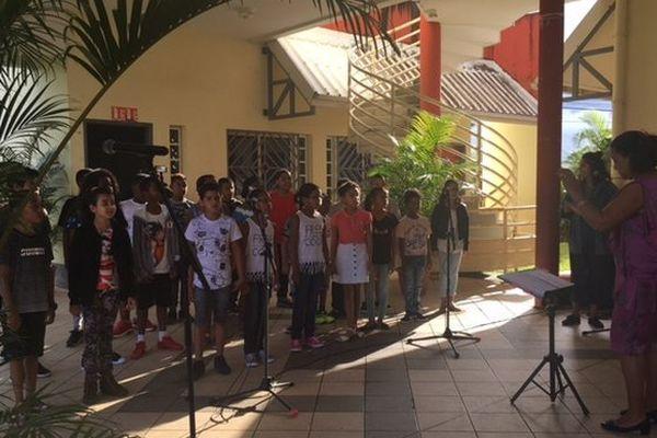 Chorale au collège de Saint-Benoît rentrée 2017