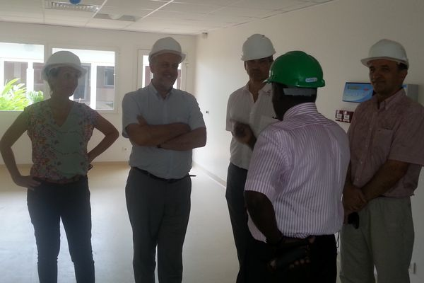 Visite du chantier du Centre hospitalier régional du Raizet