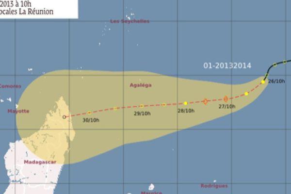 Dépression tropicale à 1740 km au Nord Est de La Réunion