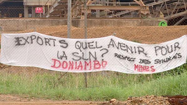 Grève 147 heures site minier de la SLN, janvier 2019