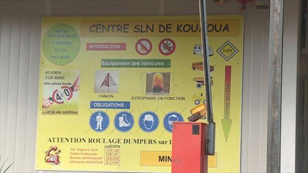 Panneau centre SLN de Kouaoua, 25 octobre 2018