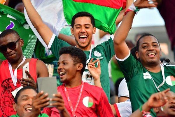 Des supporters malgaches pendant le match entre Madagascar et le Nigéria (CAN 2019)
