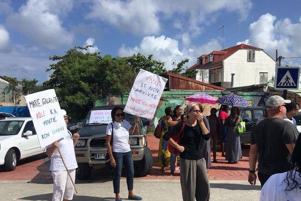 Manifestation du collectif anti-sargasse de Marie-Galante