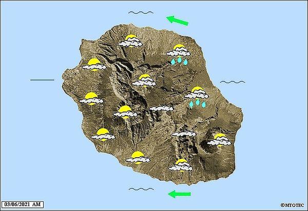 Carte météo 3 juin 2021