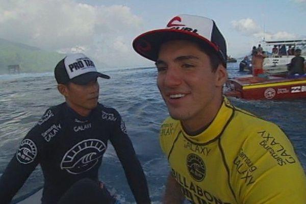Gabriel Medina, vainqueur de la Billabong Pro Tahiti 2014, numéro 1 mondial