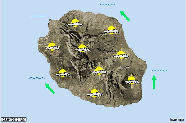 Carte météo 25 avril 2019