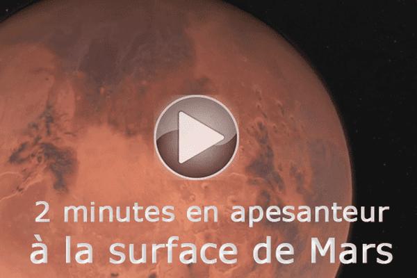 2 minutes à la surface de Mars