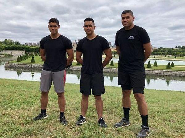 Jeunes calédoniens en formation à l'école de gendarmerie de Fontainebleau