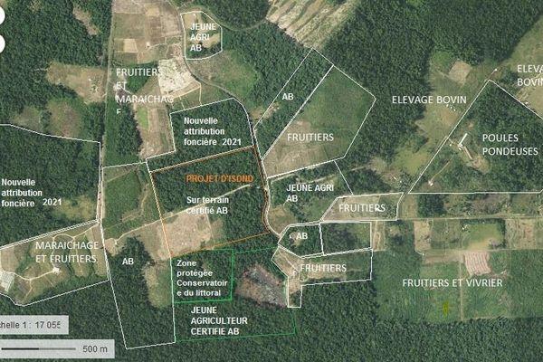 Plan de l'ISDND de Kourou