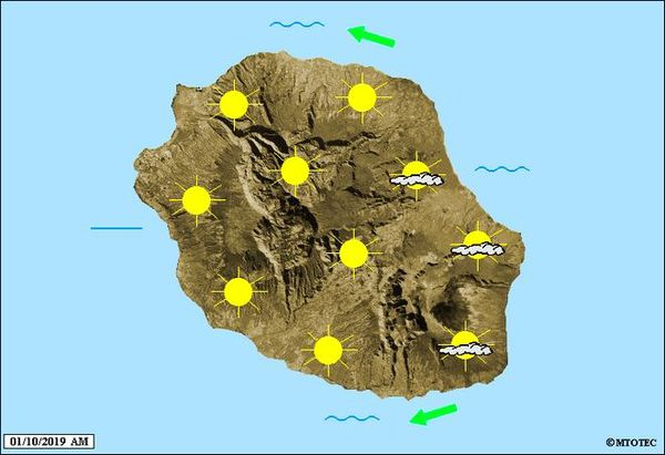 Carte météo 1 octobre 2019