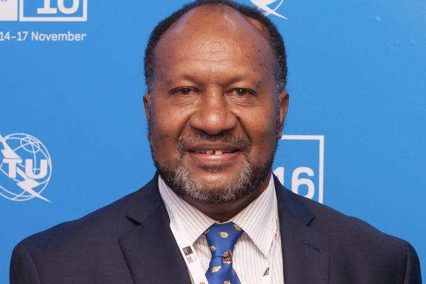 Charlot Salwai, ex-premier ministre du Vanuatu, novembre 2016, photo libre de droit
