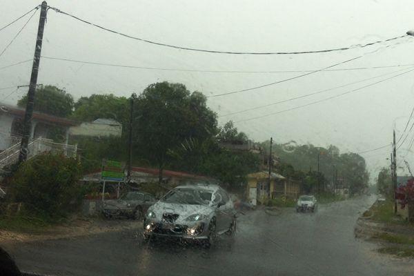 pluie en Guadeloupe