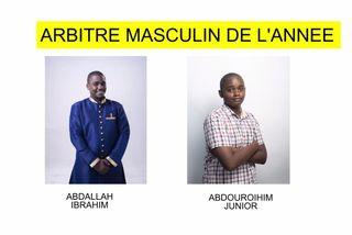 Nominés arbitre masculin 2018 :Abdallah Ibrahim & Abdouroihim Junior