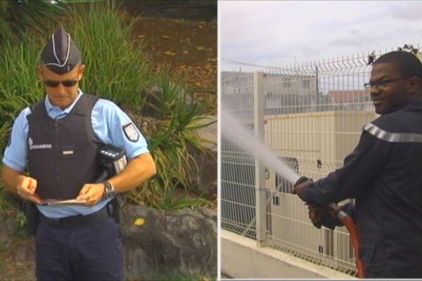 gendarme et pompier