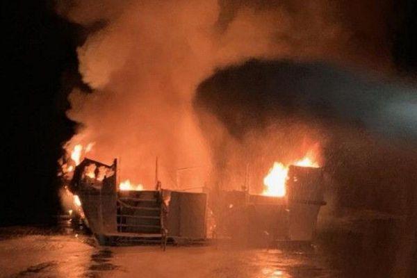 Incendie à bord d'un bateau de plongée