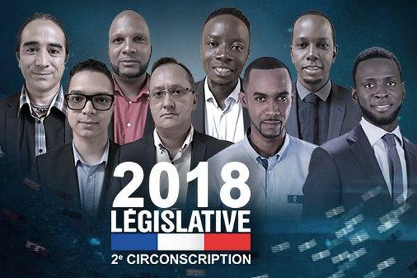 Les huit candidats de la 2è circonscription