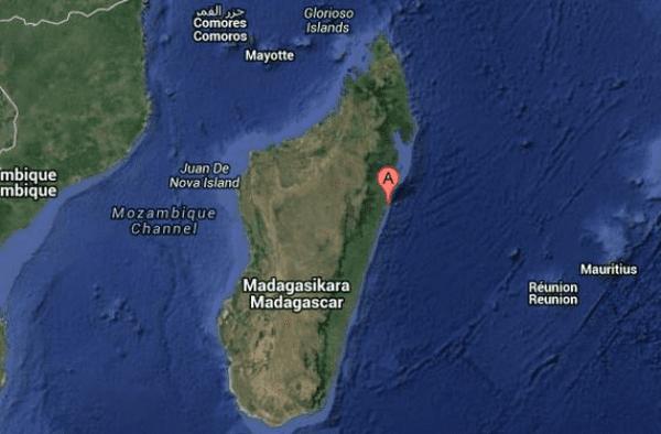 Carte de Madagascar, port de Toamasina