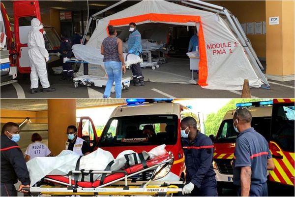 Patients / Covid-19 / tentes du CHU