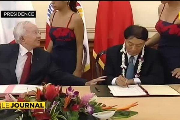 Tahiti à portée d'ailes de la Chine