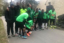 Joueurs du Club Franciscain à Clairefontaine près de Paris.