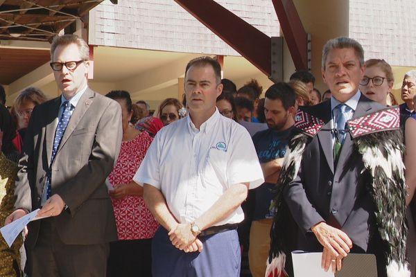 Hommage pour Christchurch à la CPS, chant maori