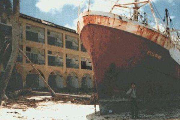 Archives d'Outre-mer - Ouragan Luis à Saint-Martin et Saint-Barthélémy en 1995