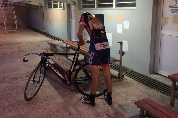 Rayann Lachenie, au vélodrome de Magenta.