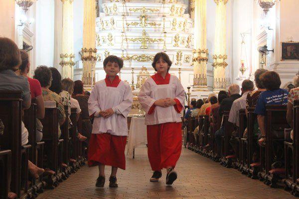 A la messe