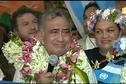 Les images du retour d'Oscar Temaru à l'aéroport de tahiti Faa'a