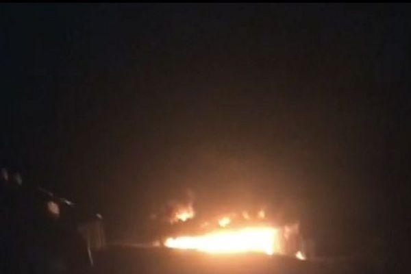 incendie à Apagui