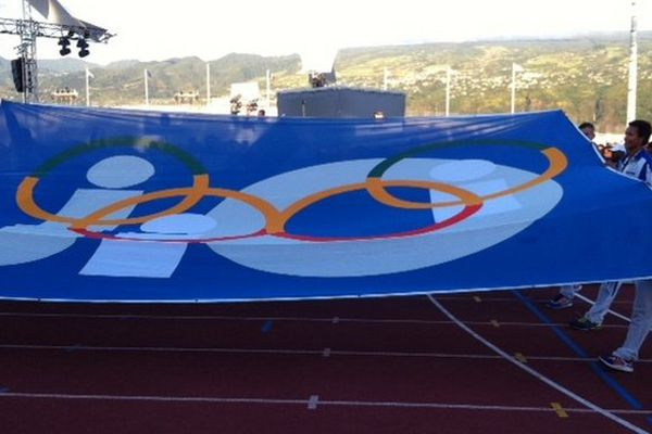 Le drapeau des Jeux
