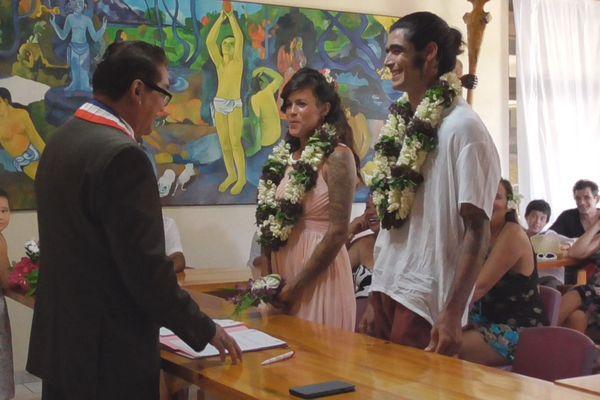 Un mariage marquisien pour un jeune couple franco-brésilien