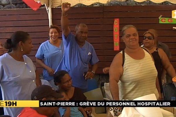 Grève hôpital Saint-Pierre