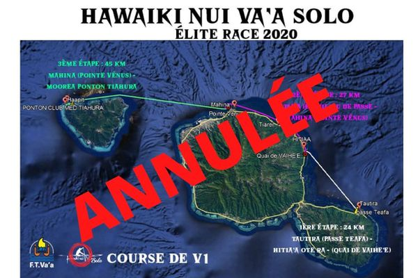 Covid-19 : la 1ère édition de la Hawaiki Nui Va'a Solo est annulée (v3)