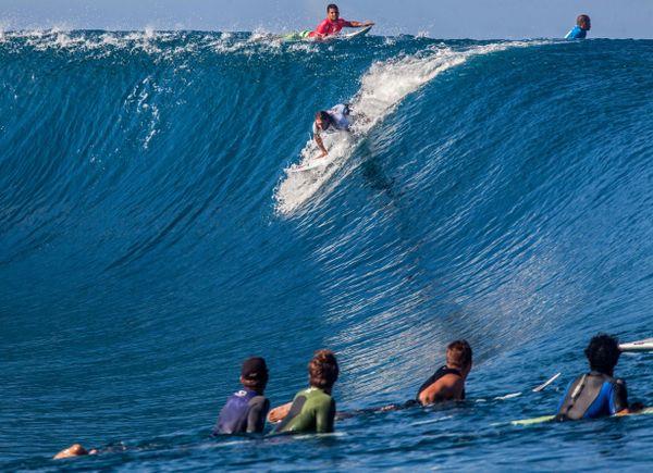 L'un des concurrents de Michel Bourez, l'Australien Matt Wilkinson, deuxième de la série Billabong Pro Tahiti